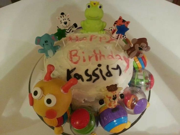Baby Einstein birthday cake