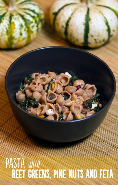 Local Food Rocks: Pasta with beet greens, pine nuts and feta