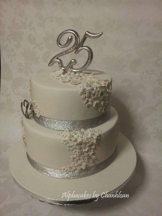 25th Anniversary cake - CakesDecor Wedding Pinterest