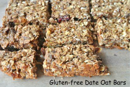 gluten-free date oat bars