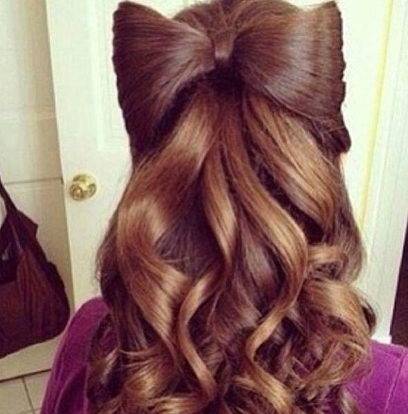 hair bows in curly hair - photo #12