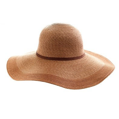 two-toned straw hat via:@The Zoe Report