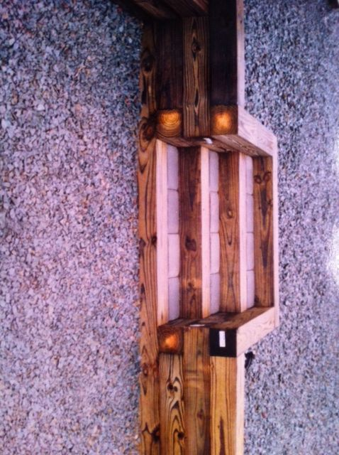 railroad tie planter box with steps outside ideas