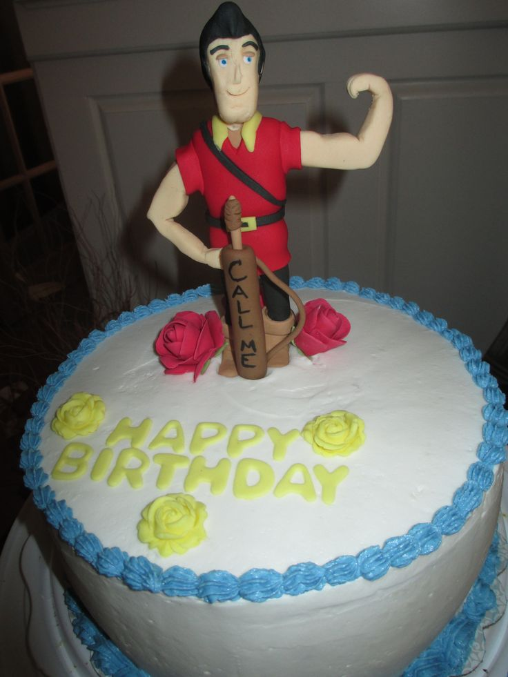 GASTON CAKE FROM BEAUTY AND THE BEAST