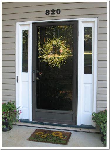 Gallery For Black Front Door With Storm Door