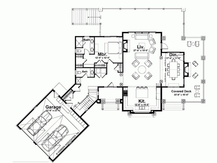 Open kitchen great room house plans pinterest Open space home plans