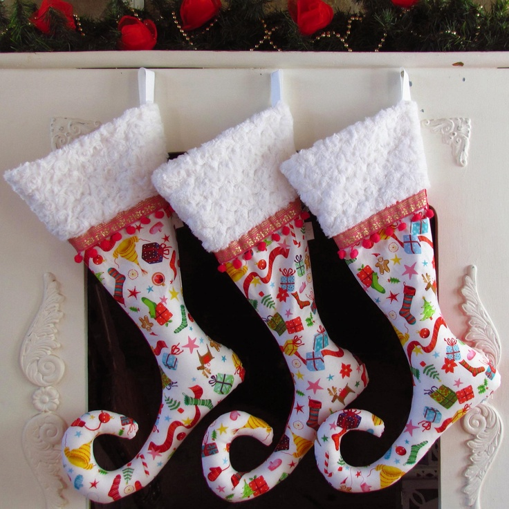 Christmas Elf Stocking, my Etsy PDF Sewing Pattern