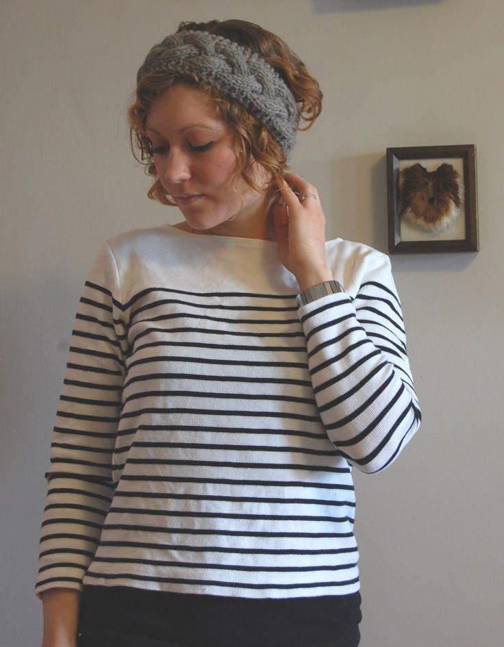 Knitting Pattern Cable Knit Headband : Pinterest