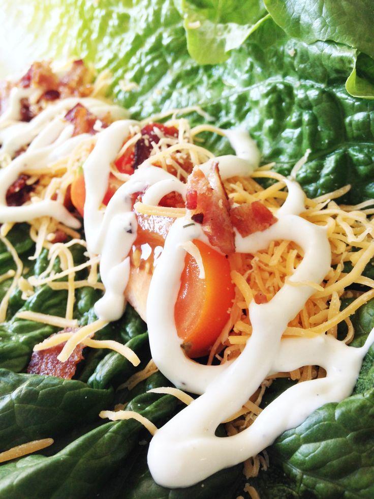BLT Lettuce Wraps — The Skinny Fork | favorite recipes | Pinterest