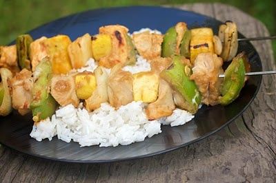 Peanut Kabobs with Coconut Rice | Food | Pinterest