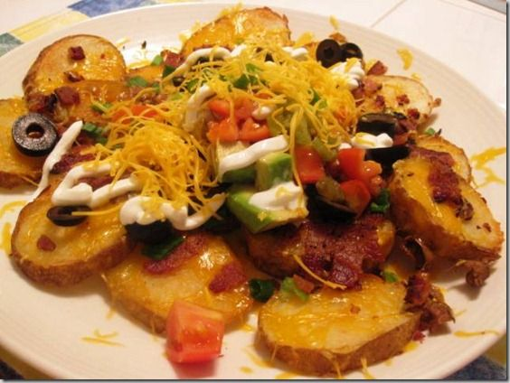 potato skin nachos | Appetizers | Pinterest