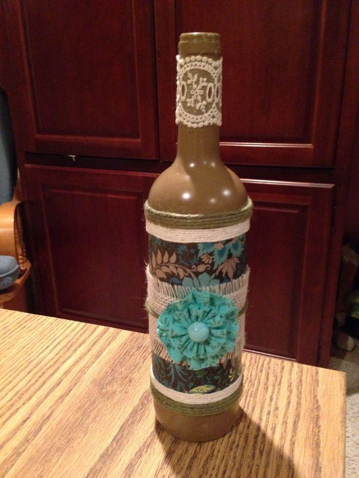 Wine bottle crafts diy pinterest for Diy wine bottle crafts pinterest