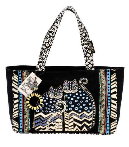 Laurel Burch Medium Tote with Zipper Top, Spotted Cats Laurel Burch #CAT #bag
