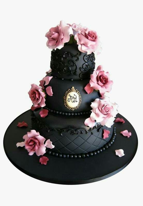 Cake Art Miranda : Gothic cake :-) ::Goth Glam & Sugar Skulls:: Pinterest