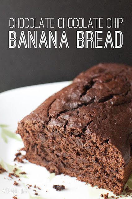 VeganFling: Chocolate Chocolate Chip Banana Bread