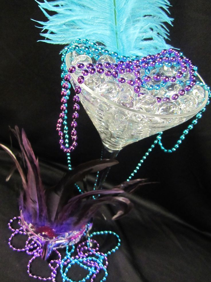 Mask martini glass table centerpieces masquerade plans