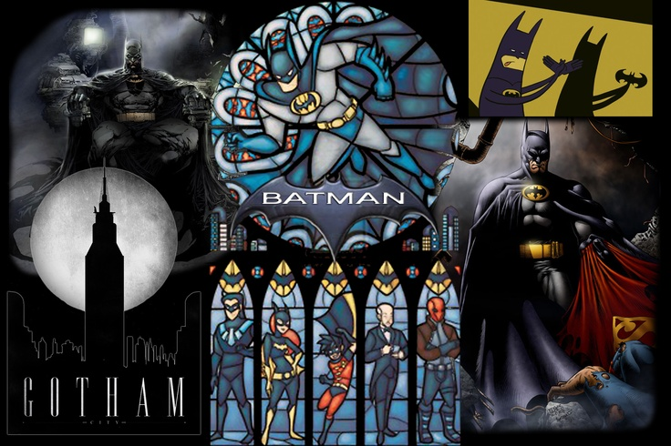 Batman wall mural batman pinterest for Batman wall mural
