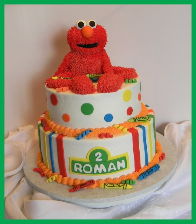 elmo 2nd birthday cake