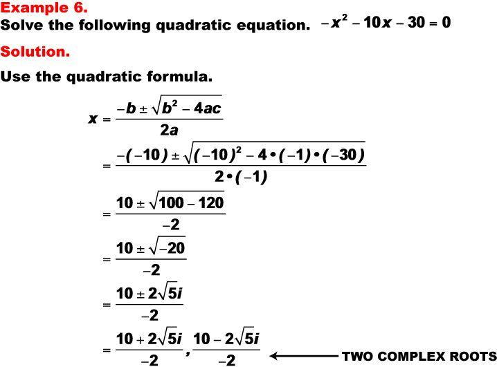 Quadratic FormulaQuadratic Formula