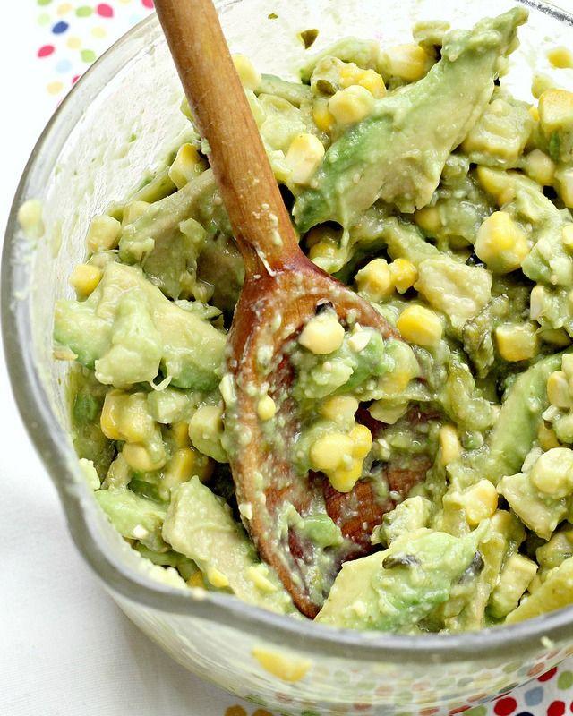 Recipe: Grilled Corn and Poblano Guacamole