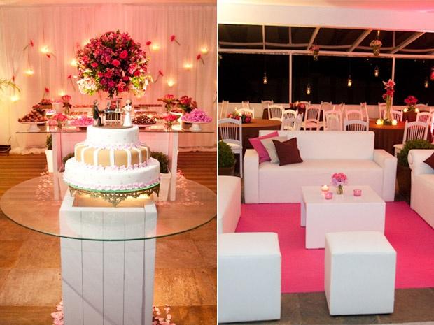 Casamento em rosa e marrom dupla compõe diferentes estilos de
