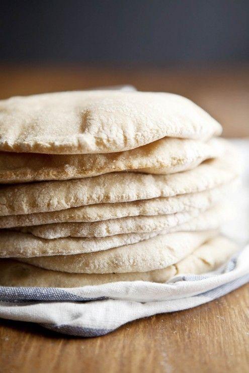 DIY Whole Wheat Pita Bread #Yum #Homemade #Baking