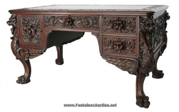 Gothic Desk Victorian gothic desk