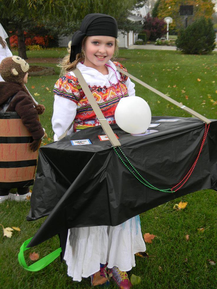 Fortune Teller Diy Halloween Costume Cardboard Box Table