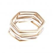 Hexagon Band Ring