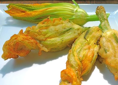 Fried Zucchini Blossoms Stuffed with Goat Cheese are like little ...