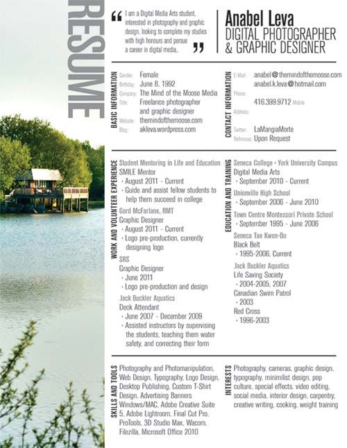 Creative resume design interior design pinterest for Creative interior design resume