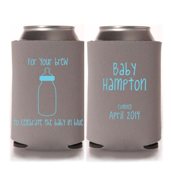 boy baby shower koozie favors baby boy shower favors coed baby sho
