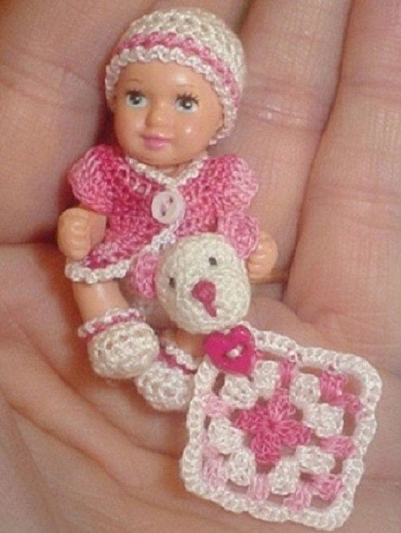 Crochet Pattern For Doll Diaper : Handmade Crochet Diaper set for 1& 3/4