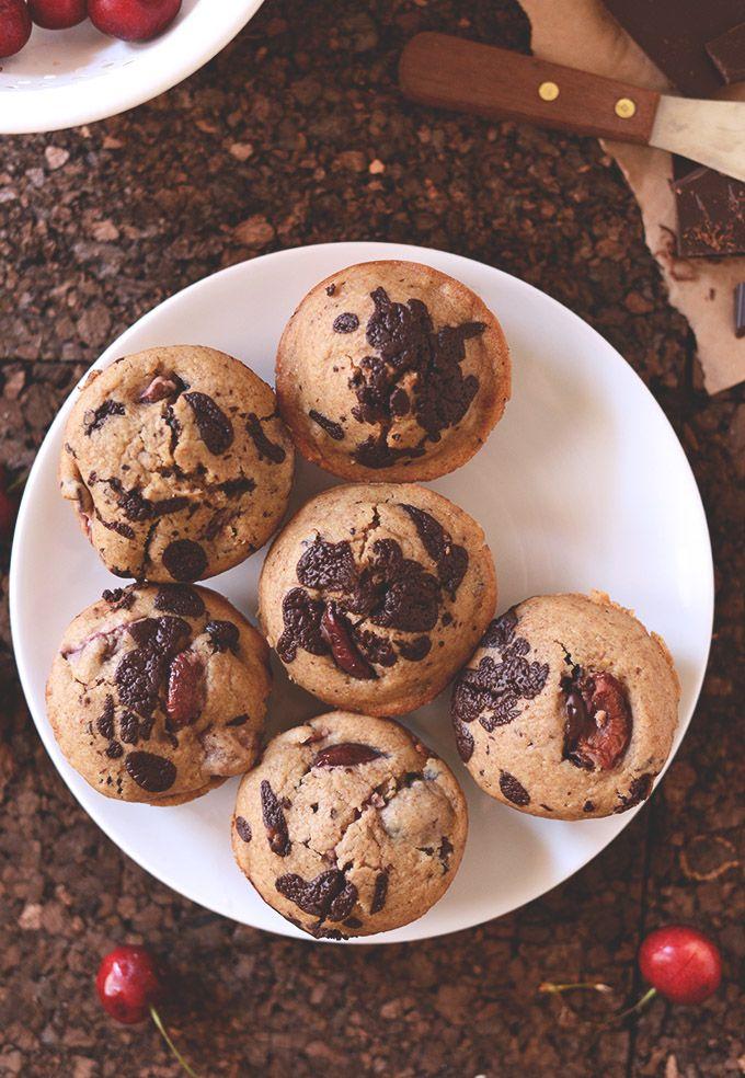 Vegan Cherry Dark Chocolate Chip Muffins   minimalist baker....just ...