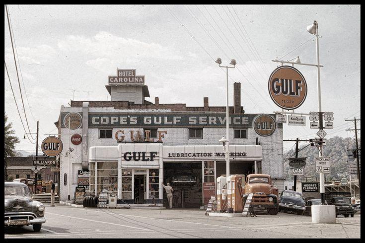 Vintage service stations vintage 50s gulf service station in sylva