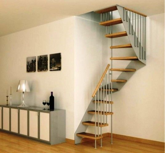 Cool staircase for small spaces small cottage house plans pintere - Small space staircase ideas concept ...