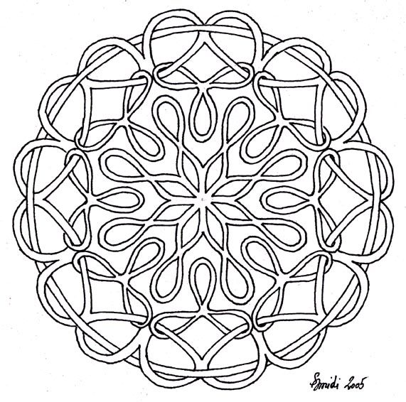 hex signs coloring pages - photo#3