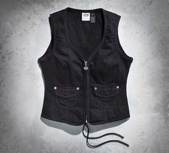 Women's Embellished Denim Vest