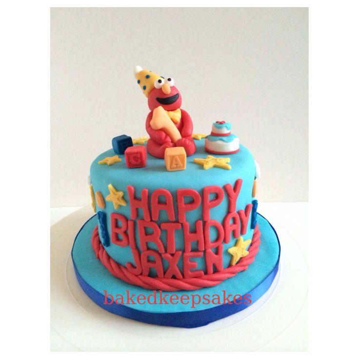 Elmo birthday cake by Baked Keepsakes.  Baked Keepsakes  Pinterest