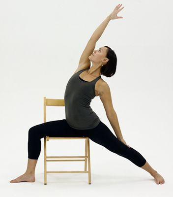 Yoga poses chair yoga poses yoga pinterest for Furniture yoga