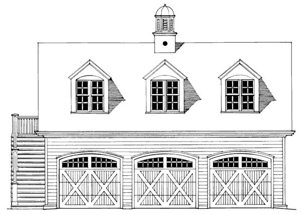 New England Carriage House Style Garages