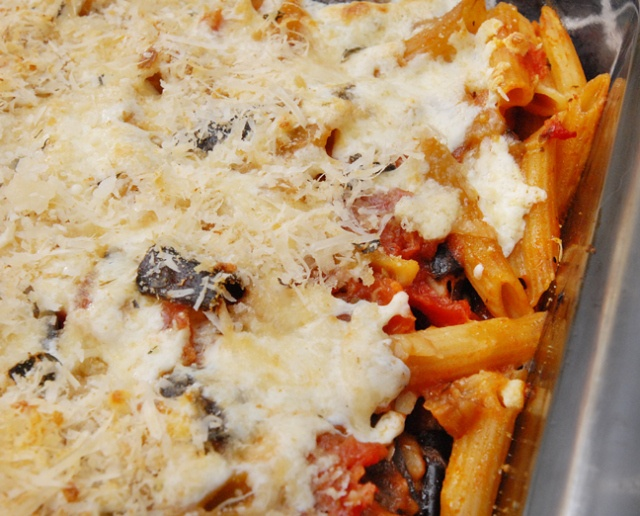Baked Penne with Eggplant and Capers | recipes | Pinterest