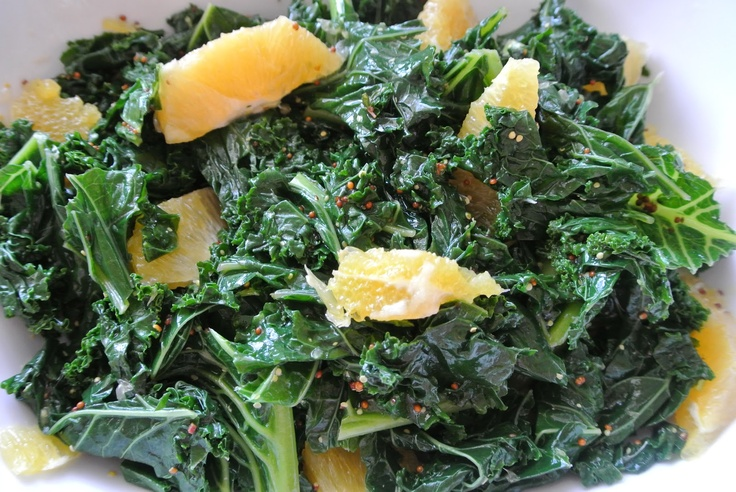 Kale with Oranges and Mustard Dressing( #GlutenFree, #DiabetesFriendly ...
