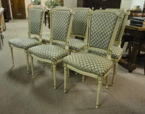 French Antique Louis XVI Style Dining Chairs c1900 $2580 on GoAntiques