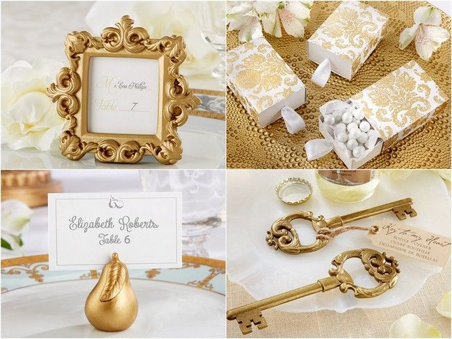 New Product Gold Favors