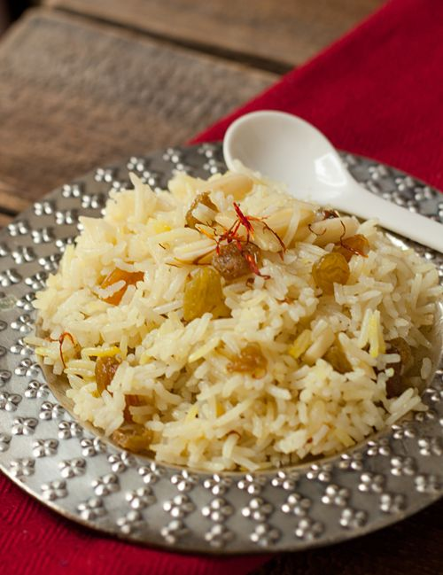 saffron rice with raisins and almonds | photography | nuts | Pinterest