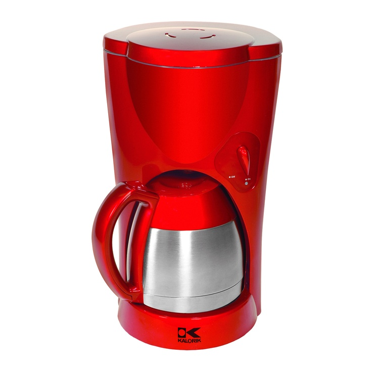 Coffee Maker Jar : Kalorik Red Metallic Coffee Maker with Thermoflask Jar (Refurbished)