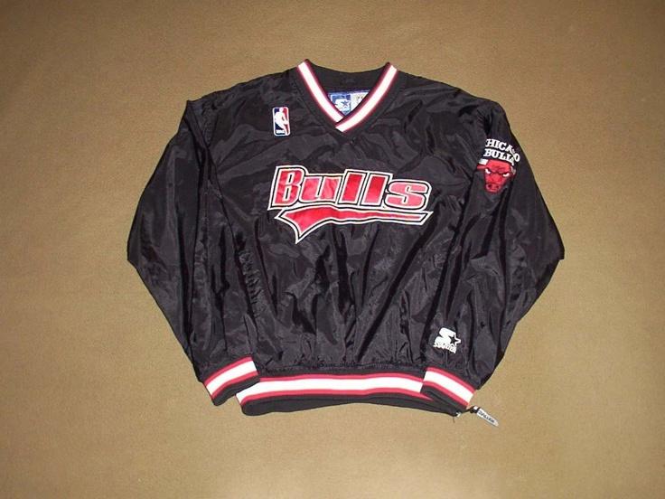 chicago bulls pullover jacket basketball starter x large. Black Bedroom Furniture Sets. Home Design Ideas