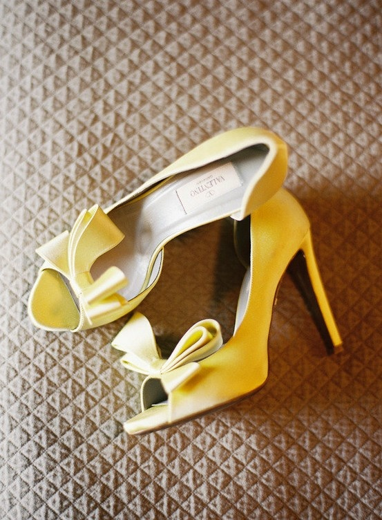 YELLOW Wedding: Valentino Bride Yellow Statement Shoe