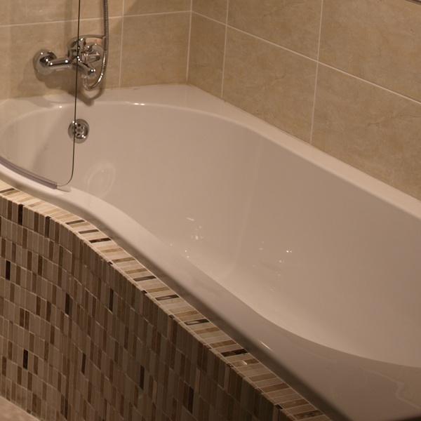 P Shaped Shower Bath Bathroom Project Ideas